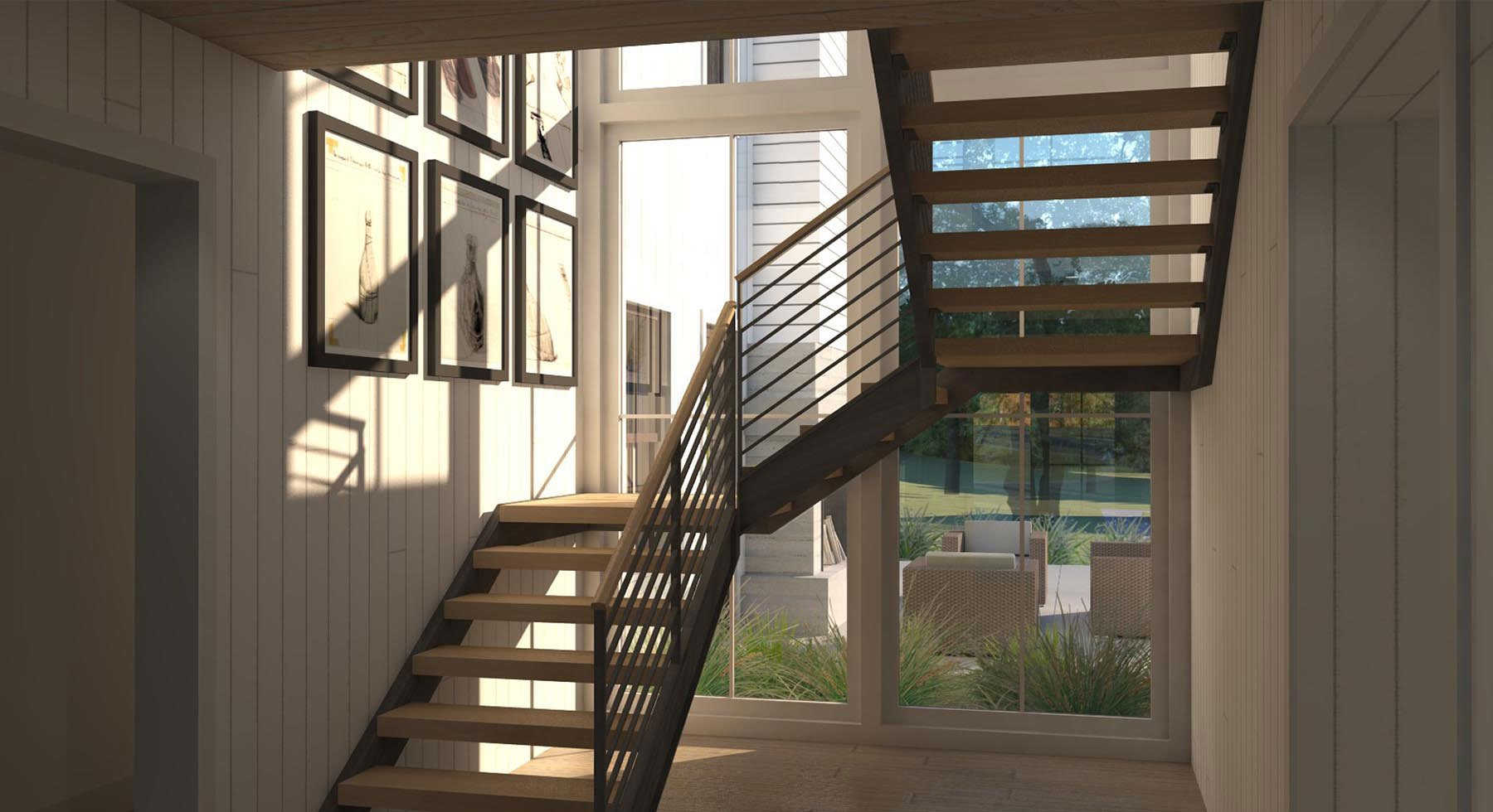 Marin Modern Farmhouse Stairs