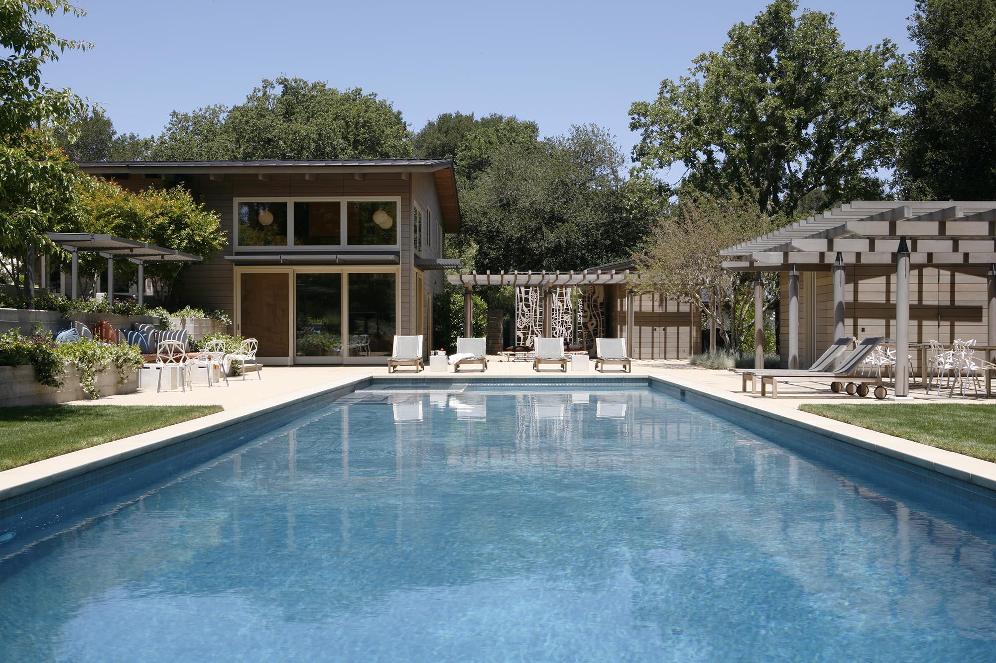 Mid-century Modern Renovation pool