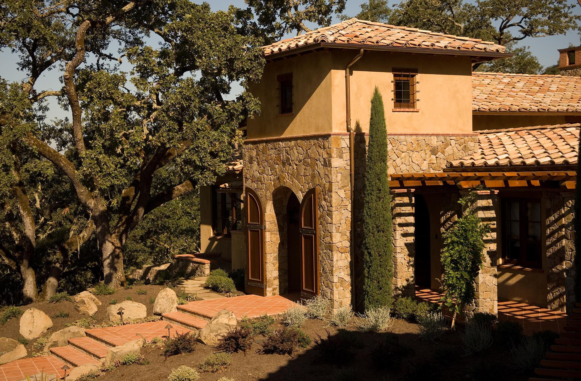 Wine Country Retreat tower by Stephen Willrich Architecture